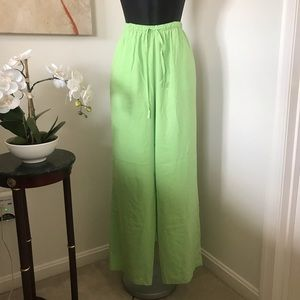 Pants - 100% Silk Wide Leg Drawstring Pants